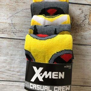 New 5 Pair of X-Men Novelty Crew Socks sz 10 - 13